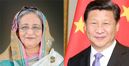 Chinese President Xi Jinping has called Prime Minister Sheikh Hasina