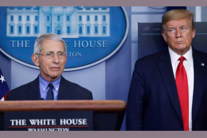 White House accuses top scientist Fauci of 'playing politics'