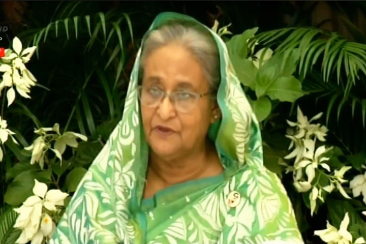 Prime Minister Sheikh Hasina in video conferencing