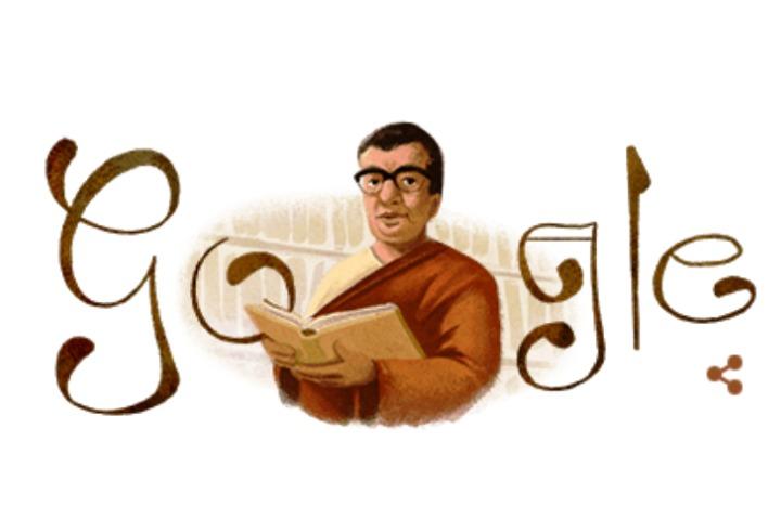 Google doodle on Munir Chowdhury's birthday