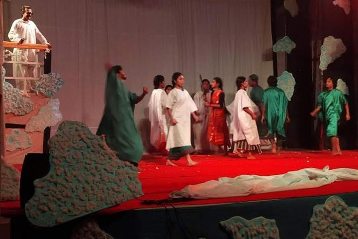 'Meghahal No. 32' came on stage with Anisul Haque's poem