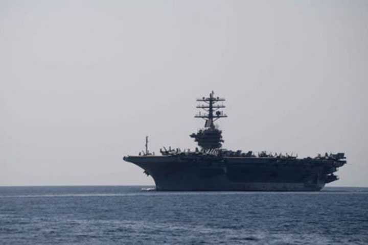 US aircraft carrier to stay in Arabian Gulf