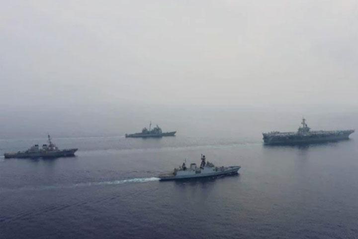 India, US kick off two-day naval exercise in eastern Indian Ocean Region, ভারত মহাসাগরে ইন্ডিয়া-আমেরিকা নৌ মহড়া, আরটিভি, RTV online, RTV