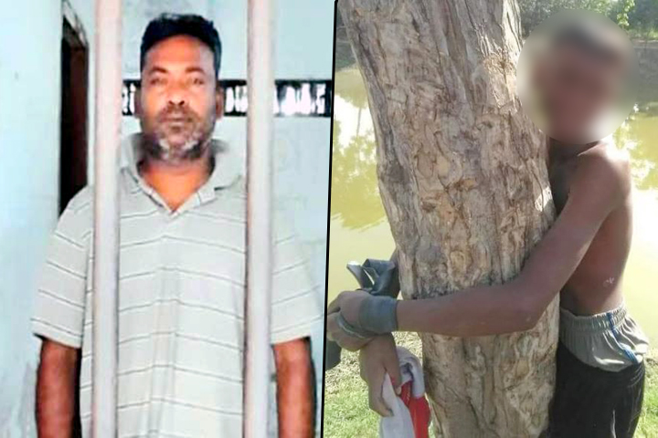 Picture on Facebook of a teenager being tied to a tree and tortured, accused arrested, rtv
