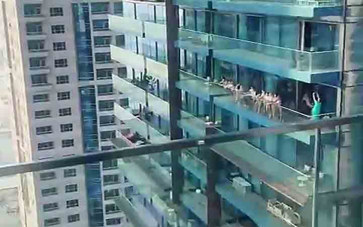 Police in Dubai arrest group of women who were filmed posing naked on skyscraper balcony on charges of public debauchery