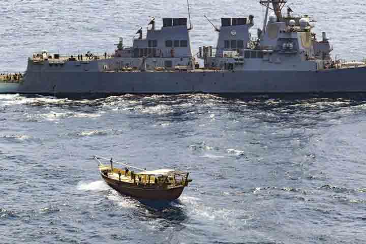 US Navy seizes huge weapons cache in Arabian Sea