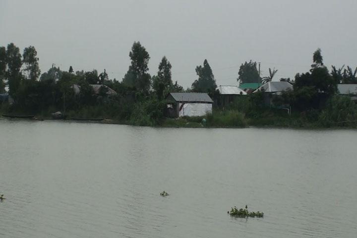 সিরাজগঞ্জে চলনবিলসহ অভ্যন্তরীণ নদীর পানি বাড়ছে