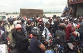 Passenger pressure at Aricha and Paturia ferry terminals in Manikganj