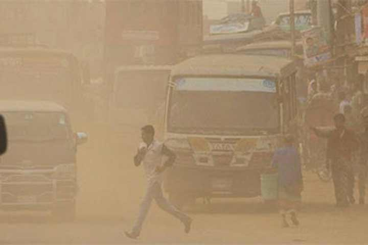 Air pollution increases by 17 per cent