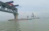 5.85 km of Padma Bridge visible
