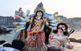 Durga Puja ends with immersion of idols in country