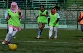 Football coaching for girls in Kashmir is not just to play