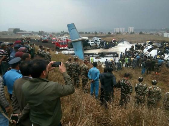 নেপালে ইউএস বাংলার উড়োজাহাজ বিধ্বস্ত